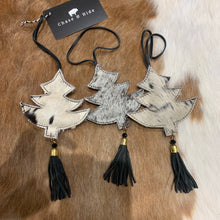 Assorted Black and white Cowhide Christmas Tree