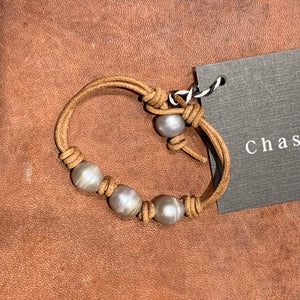 Natural Brown and Freshwater Pearl bracelet #242