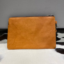hide & leather midi clutch #196