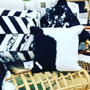 Salt & Pepper Cevron Cushion