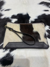 hide & leather midi clutch #181