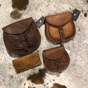 Handbag leather saddlebag m