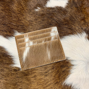 Card Holder Cowhide Assorted Tones Browns