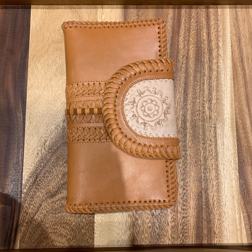 Mandalay Tan Weave Wallet