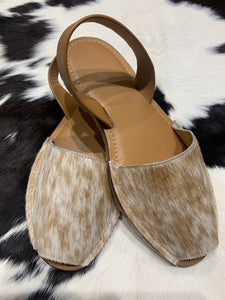 Cowhide Shoes Sling back 39