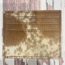 Cowhide Card Holder  assorted tans