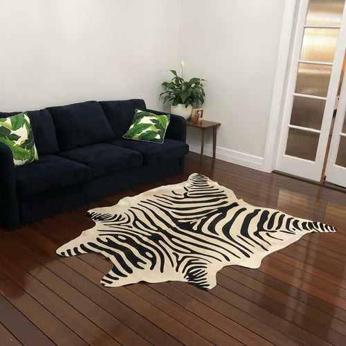 Zebra Hide - Printed Cowhide SOLD