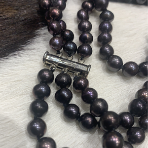3 strand pearl necklace #876