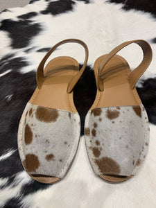 Cowhide Shoes Sling back 37