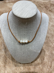 Freshwater Pearls on light natural #315