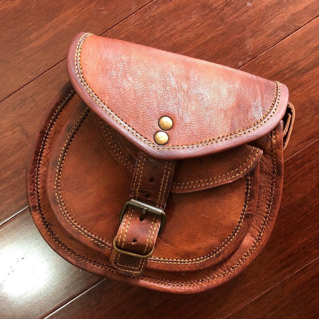 Handbag Leather Saddle Bag small
