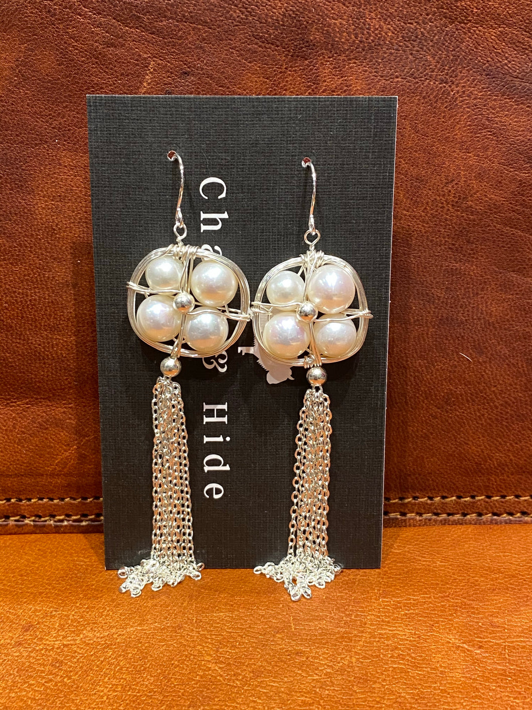 Silver Fresh water pearl drops #888