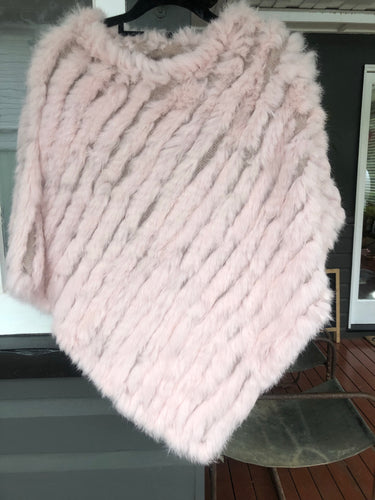 Fur Poncho Light  Pink PREORDER