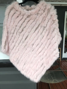 Fur Poncho Light  Pink