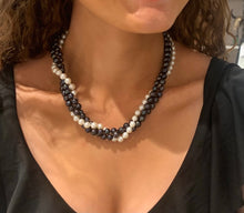 Dark & light pearl necklace #506