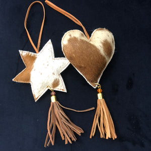 HEART   Decorations Brown & White