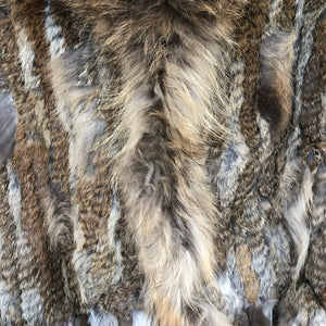 Natural Dark Fur Vest ; sold out orders welcome