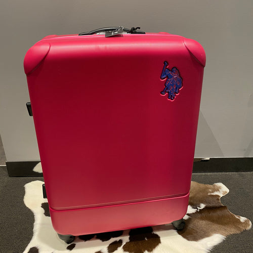 PINK US POLO ASSN. SUITCASE LARGE