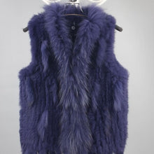 Blue / Purple Fur Vest