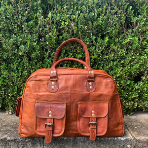 Leather Carry All Handbag