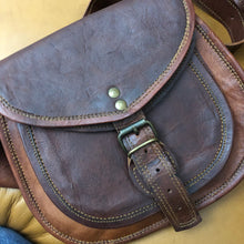 Handbag leather saddlebag medium