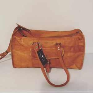 Leather Overnight Bag (Medium) 20""