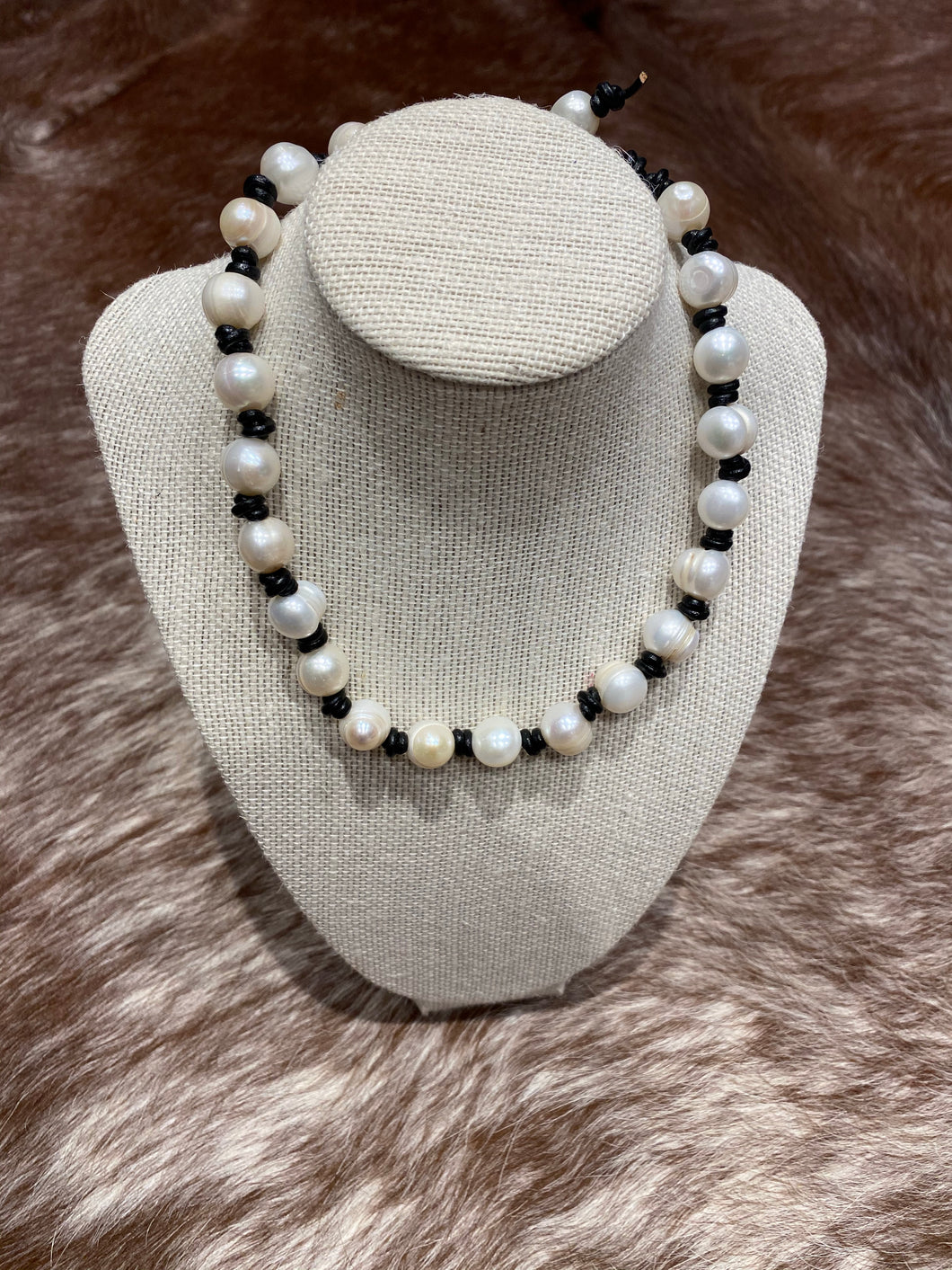 baroque pearl necklace #636