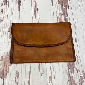 Large clip leather wallet with zipper #519