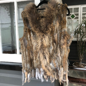 Natural Dark Fur Vest