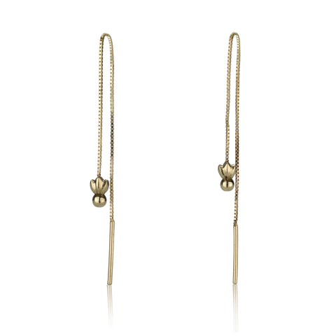 Single Line Earring - Ruby