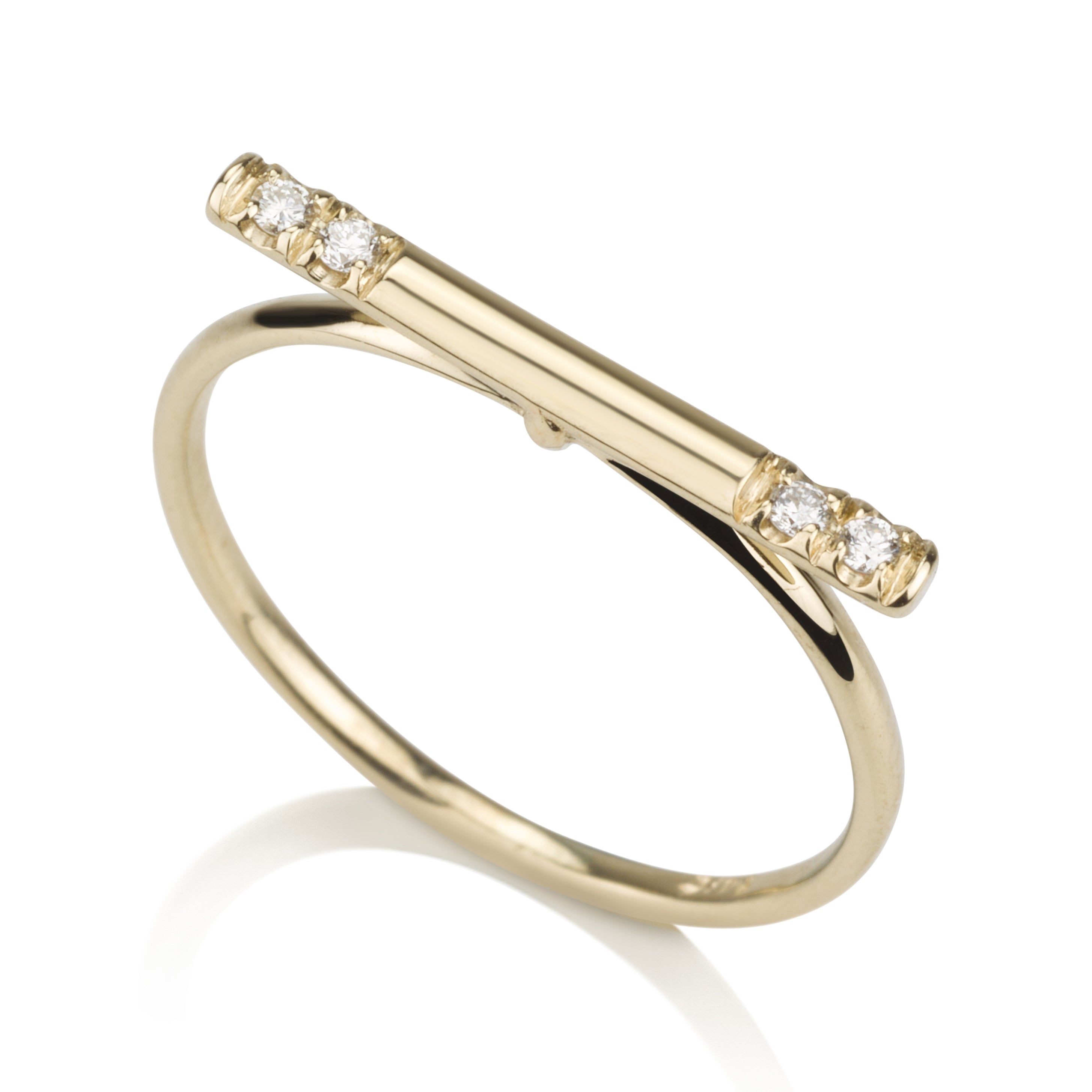Line Ring - Diamonds