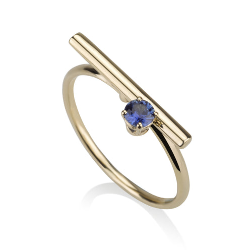 Line Ring - Sapphire