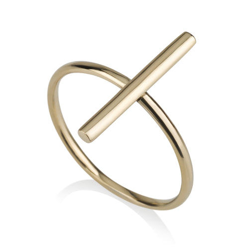 Gold Vertical Ring