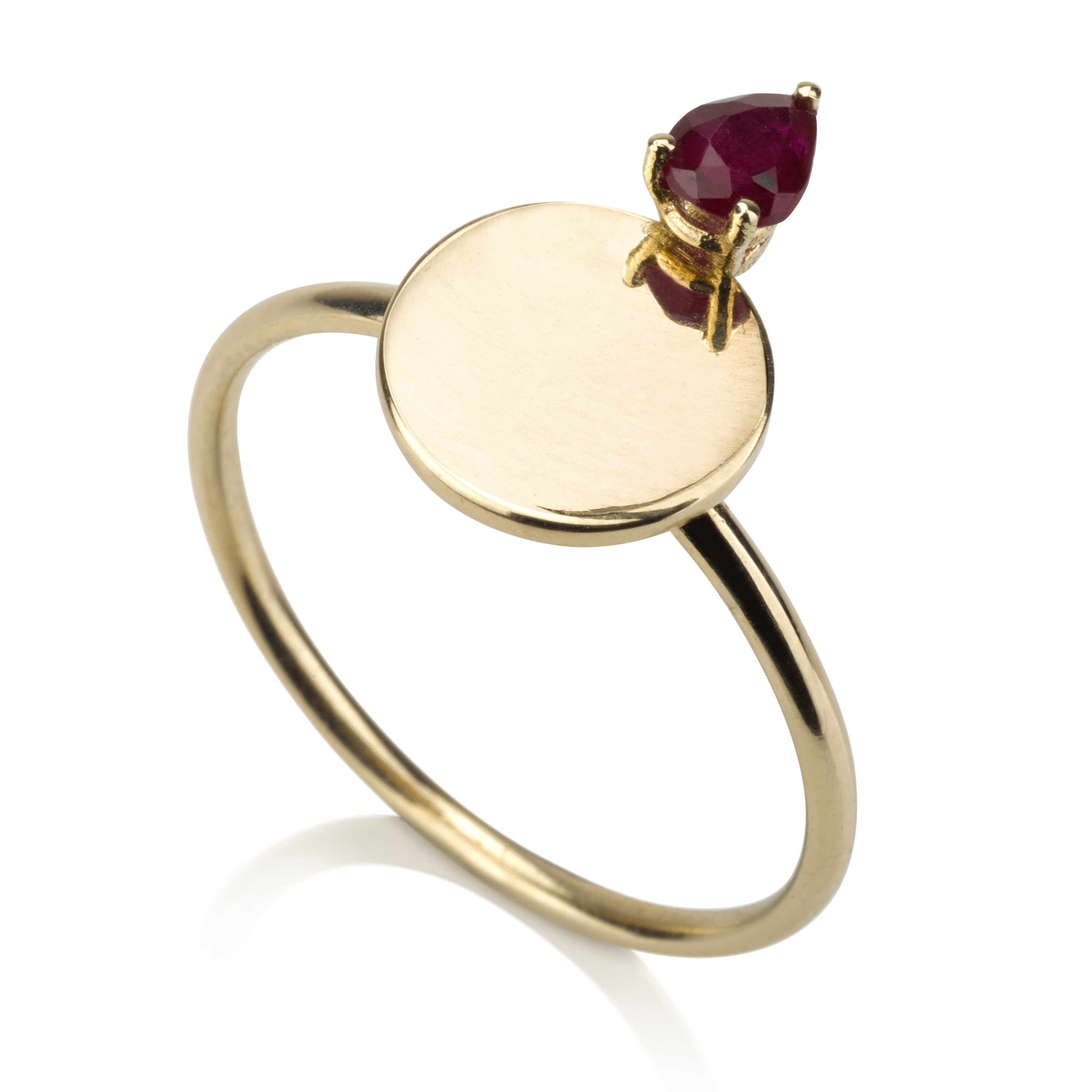 Signet Ring - Ruby