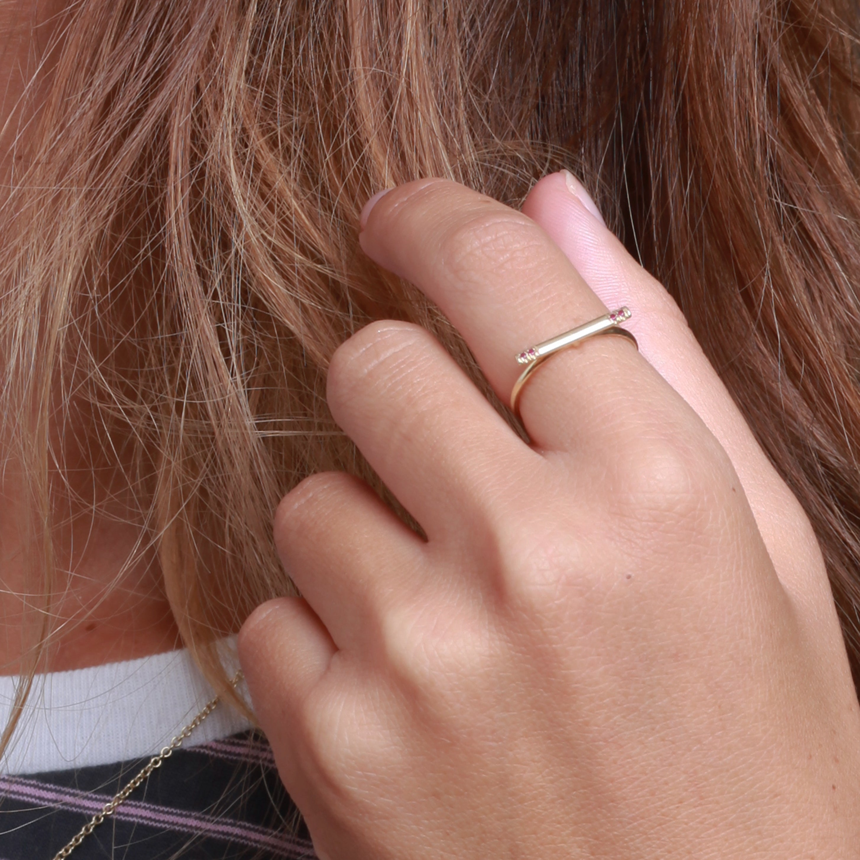 Gold Line Ring