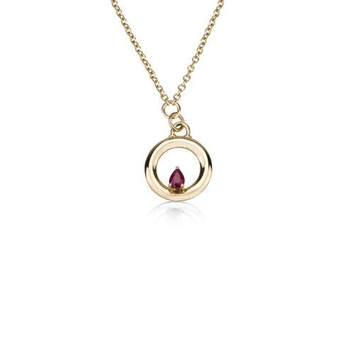 Round Necklace - Ruby