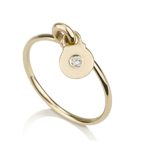 Signet Charmed By A Diamond Charm