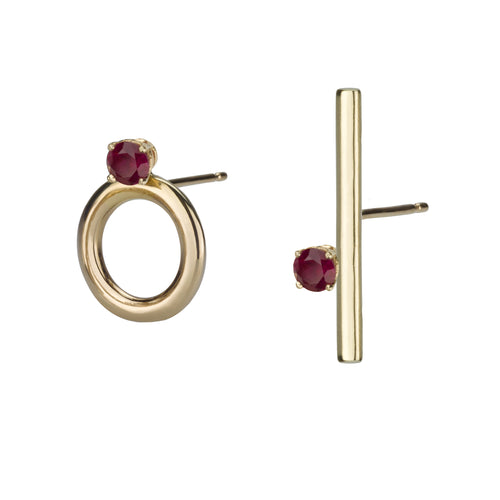 Mixed Earrings - Rubies