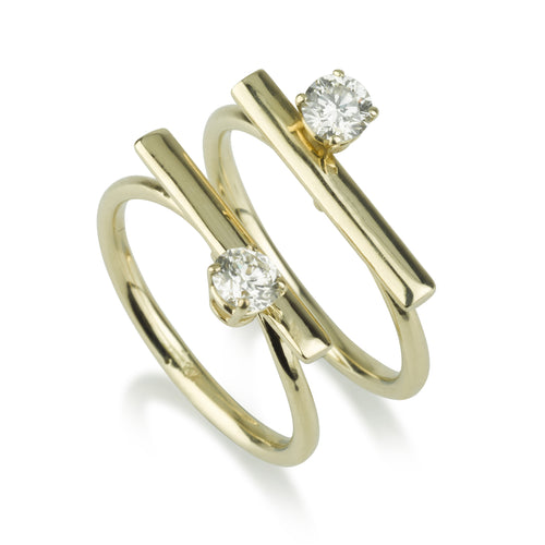 Iconic Line Rings - Diamond Set