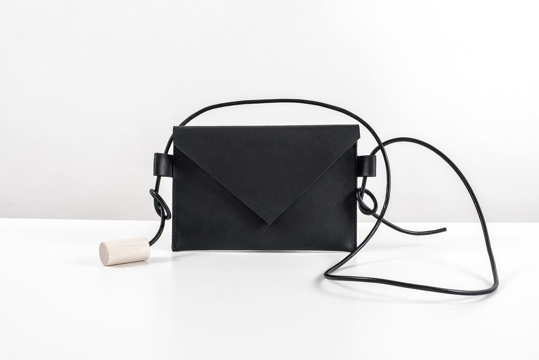 stylish minimalistic hand made genuine leather bag