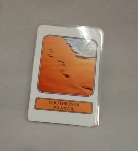 Footprints Prayer Card - Footprints in the Sand Laminated Prayer Card