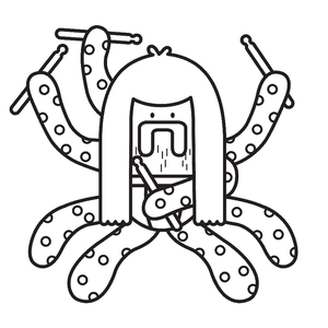 Otto the Octopus Coloring Page