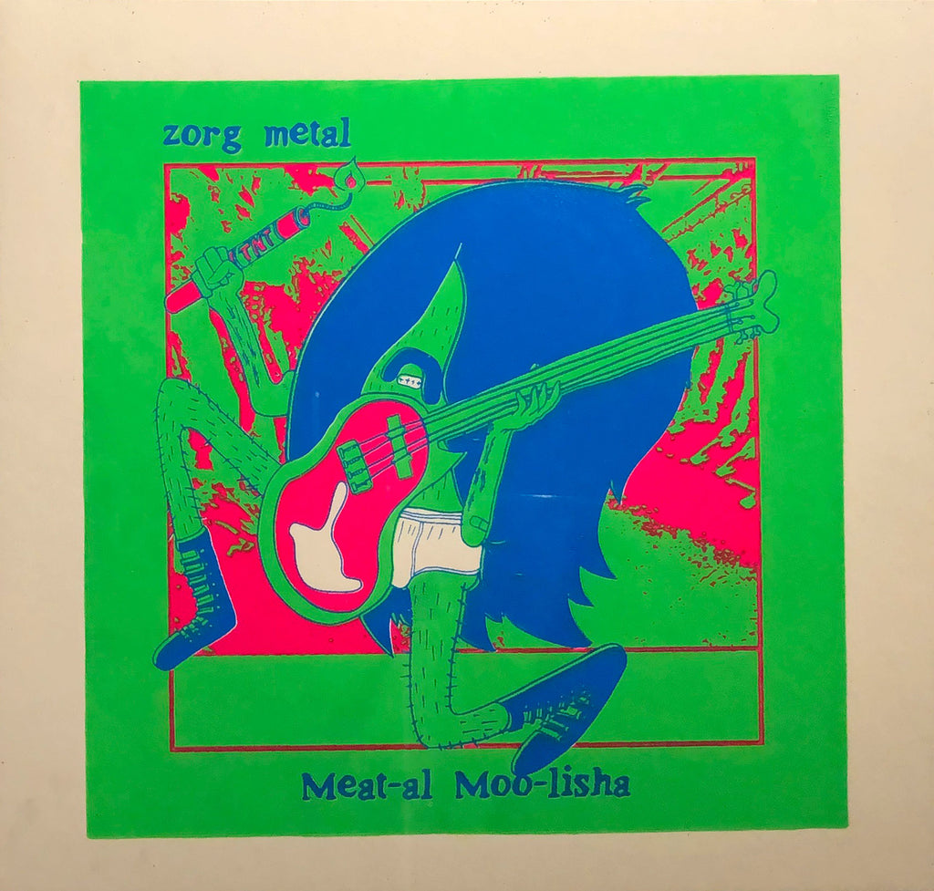 Meat-al Moo-lisha Screenprint