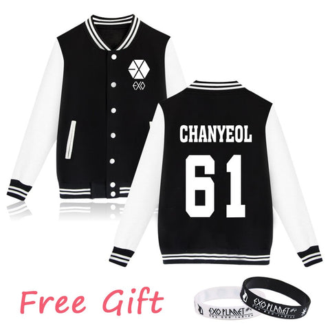 EXO Fans Supportive Sweatshirt + Free Wristband