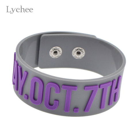 EXO Silicone Wide Wristband Members Name Birthday Rubber Bracelet