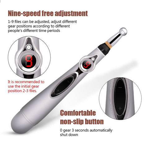 Image of 3pcs Massage head Electronic Acupuncture Pen