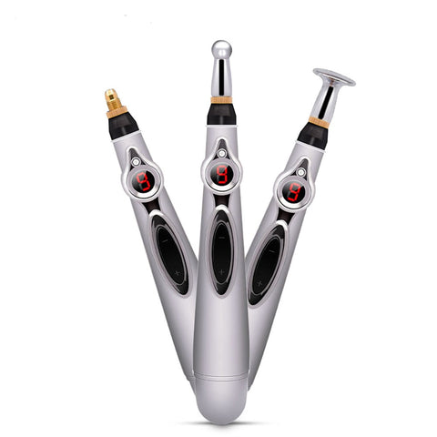 3pcs Massage head Electronic Acupuncture Pen
