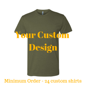 Premium military green shirt by Jits Culture for custom printing - grow your business