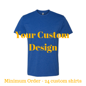 Premium royal blue shirt by Jits Culture for custom printing - grow your business