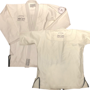 Jits Culture Original kimono top front and back made for the everyday jiu jitsu practitioner.  350 gram pearl weave top.